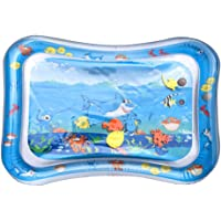 Tummy Time Mat, MOGOI Baby Inflatable Water Play Mat Indoor & Outdoor Pad for Babies & Infants Inflatable Tummy Time Water Pad Fun Colorful, Play Mat Baby