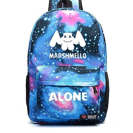 auténtico tecnicas modernas Promoción de ventas DJ Marshmello Luminous Mochilas, Galaxia Schoolbag Mochila ...
