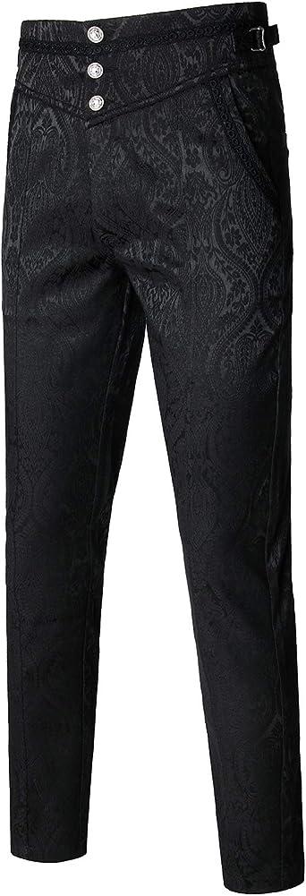 Amazon Com Vatpave Pantalones Goticos Para Hombre Clothing