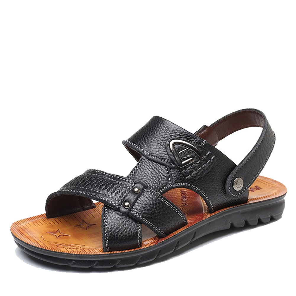 DeLamode Men Summer Cool Water Sandals Sandy Beach Slippers Shoes OneBlack-44