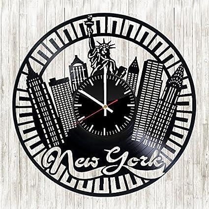 For U Boutique New York City Vinyl Record Clock Unique And Stylish Gift Idea