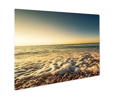 Amazon.com: Ashley Giclee Metal Panel Print, Colorful Ocean Beach ...