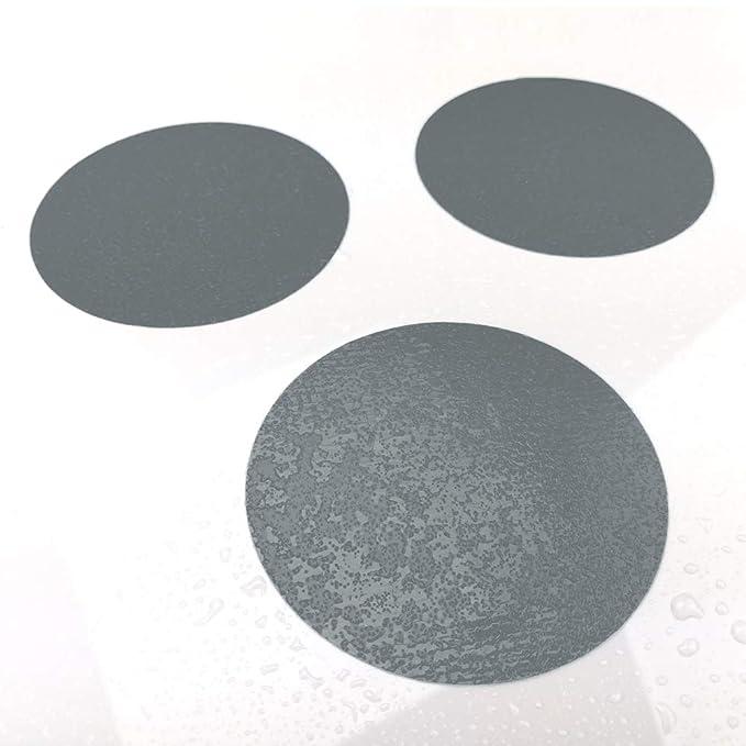 10 STK. Anti-Rutsch Sticker für Duschen & Badewannen, farbig, Rutschklasse C DIN 51097, selbstklebend (grau)