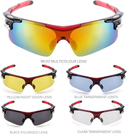 siwetg Lunettes de soleil polaris/ées pour homme Pour le cyclisme le sport en plein air la p/êche