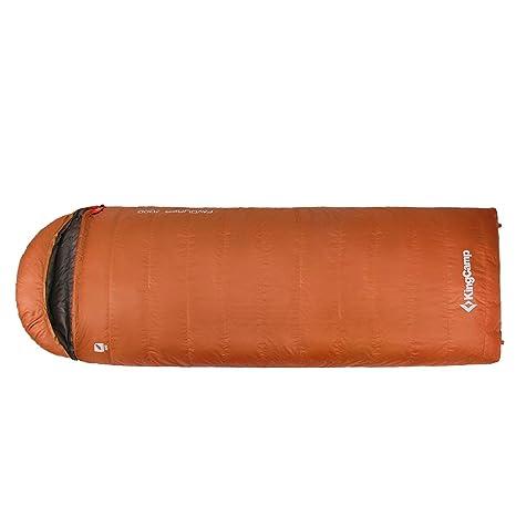 Kingcamp – Saco de dormir sobre favourer 700d para Camping senderismo – ks8016, naranja