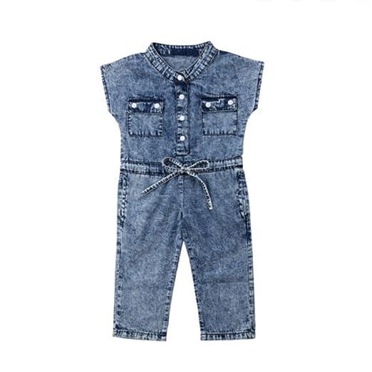 36375bdaa486 Amazon.com  Oldeagle Children Kid Girls Cool Bowknot Jeans Denim ...