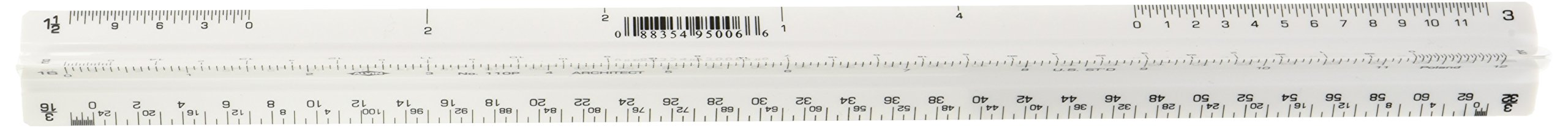 Alvin 110P 110 Series 12'' High Impact Plastic Architect Triangular Scale by Alvin (Image #3)