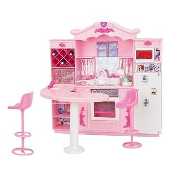 Set Mueble Cocina Completa Juguete Refrigerador Oven Cook De Barbie ...