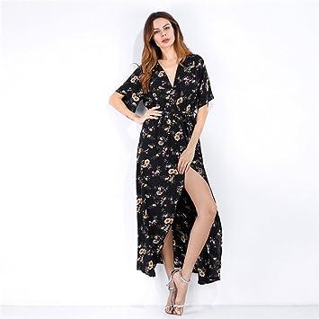 Vestido Sansee Largo Y Sexy Para Mujeres Con Estampado Boho