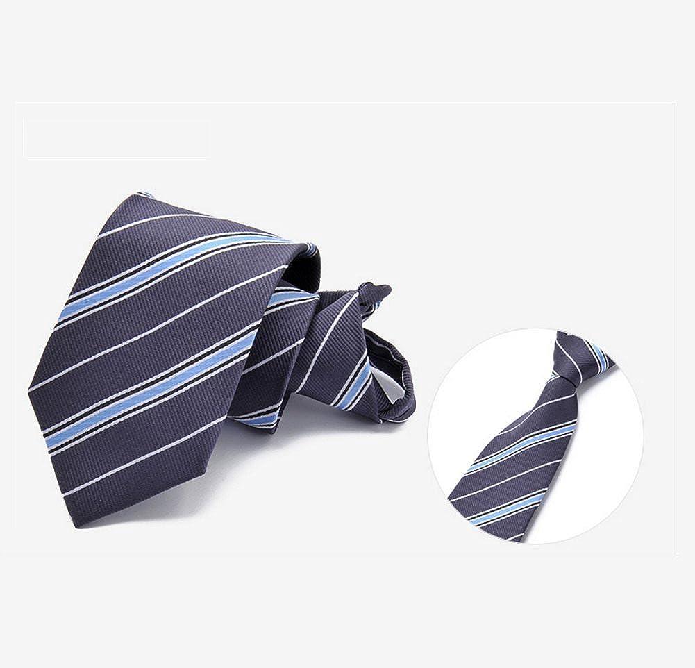 Mens delgada corbata Raya Color sólido Lunares Corbata corbata, Seda ...