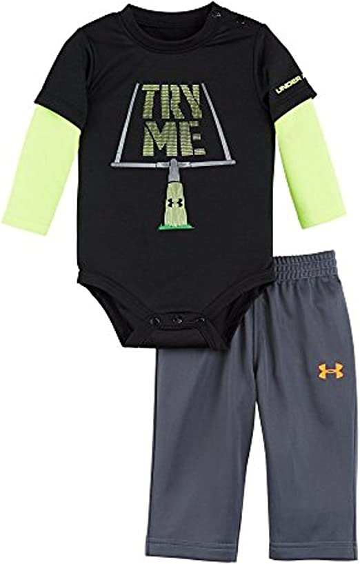 Size 3-6 New 6-9 mo Outfit; Black Boys Under Armour Football Jersey Coverall