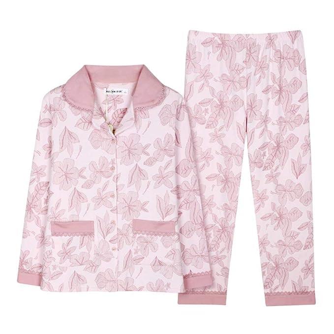 Conjunto De Pijama Mujer Primavera Otoño Patrón De Flores ...