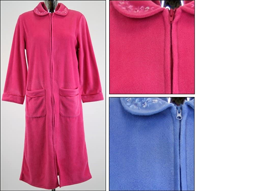 dirt cheap sale usa online lovely luster Ladies Zip Dressing Gown Housecoat Warm Fleece Sizes 10-24 ...