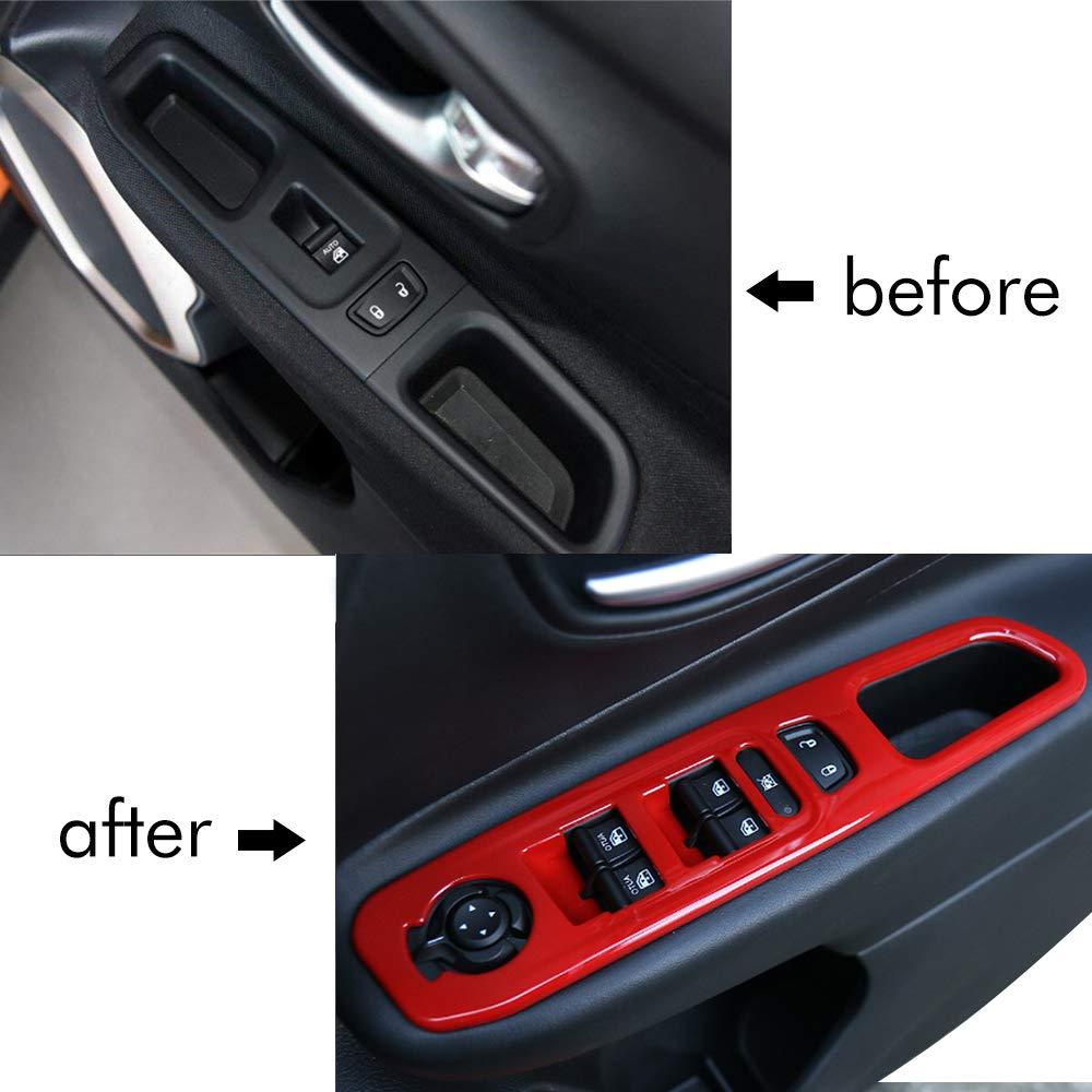 nero Auto Finestra Cornice Lift Auto Interruttore alzacristalli per Auto Accessori 4 pezzi LITTO Per renegade 15-18