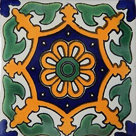 Amazon.com: Mexicano de Talavera pintado a mano Azulejos ...