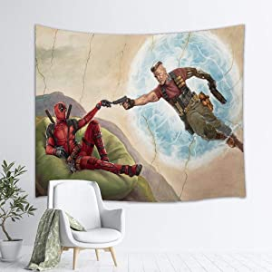 YCLQCTPART Deadpool Tapestry Funny Wall Hanging Home Decor for Living Room Bedroom Dorm Room 60x50 Inch