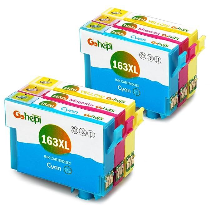150 opinioni per Gohepi 163XL (2 Ciano,2 Magenta,2 Giallo) Cartucce Compatibili Epson 16 16XL per