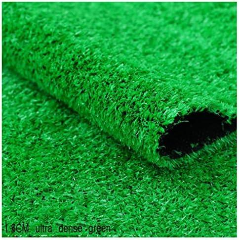 YNFNGXU 極度の密な人工的な草のカーペットの幅は2メートル(6フィート7インチ)の庭のバルコニーの偽造品の芝生15mmの山の高さ (Size : 2x4m)