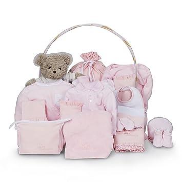 Canastilla regalo bebé Clásica Ensueño BebeDeParis-Rosa- cesta regalo recién nacido