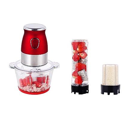 LYY Batidora de Vaso Procesador Alimentos Funciones 3 en 1 Batidora para Smoothie Electrica Carne Frutas