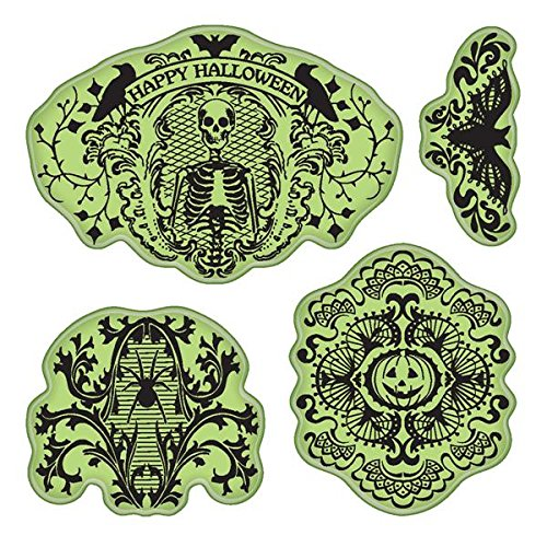 Inkadinkado Stamping Gear Cling Stamps, Halloween Lace ()