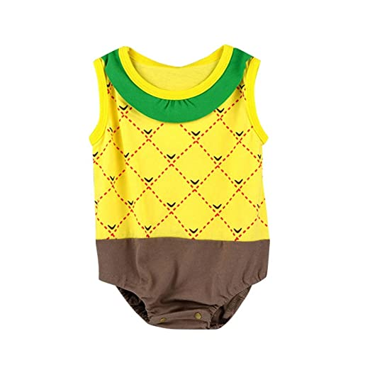 577f0647630 Image Unavailable. Image not available for. Color  Luxsea Newborn Baby Boys Girls  Fruit Printed Romper Jumpsuit Summer Clothes ...
