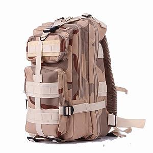 YiYiNoe 3P Military Tactical Assault Backpack Small Rucksacks Hiking Travel Bag Outdoor Trekking Camping Pack Men