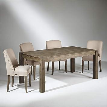 Table de Salle à Manger Bois, 8 Couverts, Enzo: Amazon.fr: Cuisine ...