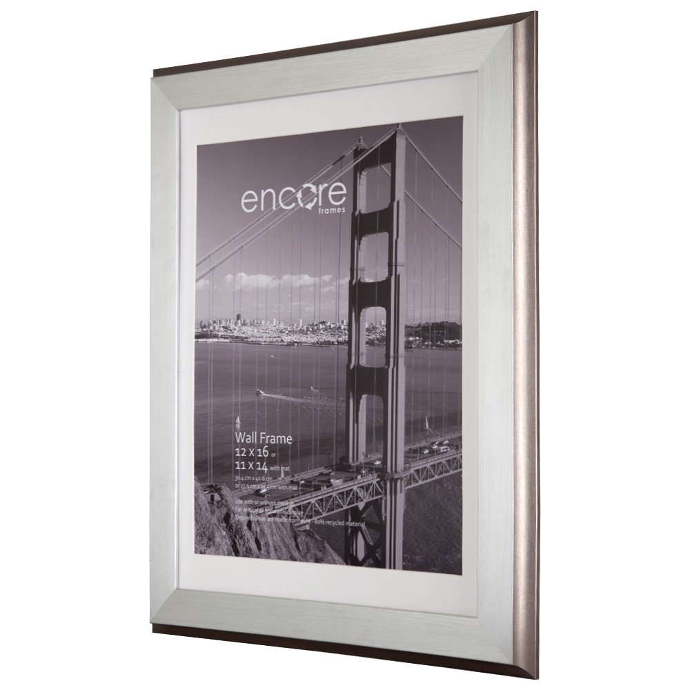 amazoncom 8x10 brushed silver plateau photo frame single frames