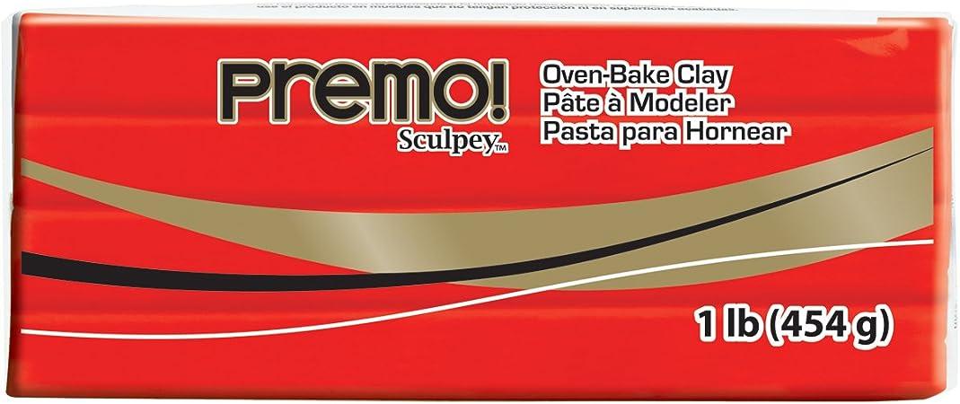 Sculpey PE02 5382 Oven Bake Clay premo!-Cadmium Red Hue