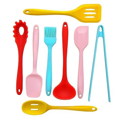 colorful kitchen utensils. Modren Kitchen Kitchen Utensil Set  8 Silicone Utensils Nonstick Cooking  Turner On Colorful K
