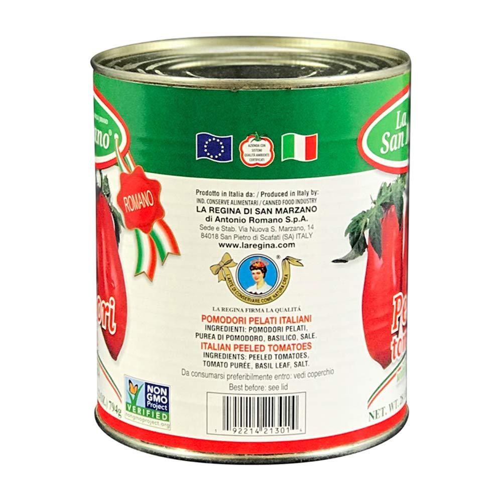 Amazon Com La San Marzano Peeled Tomatoes With Basil Leaf 28 Oz