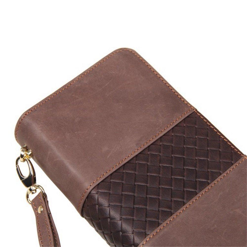 Yamyannie Herren Geldbörse Münzfach Herren Leder Lange Brieftasche Clutch Business Business Business Clutch Bag Zipper Bag Vintage Geldbeutel Münzfach Wallet (Farbe   Schwarz) B07H1T65BG Geldbrsen 2d61e4