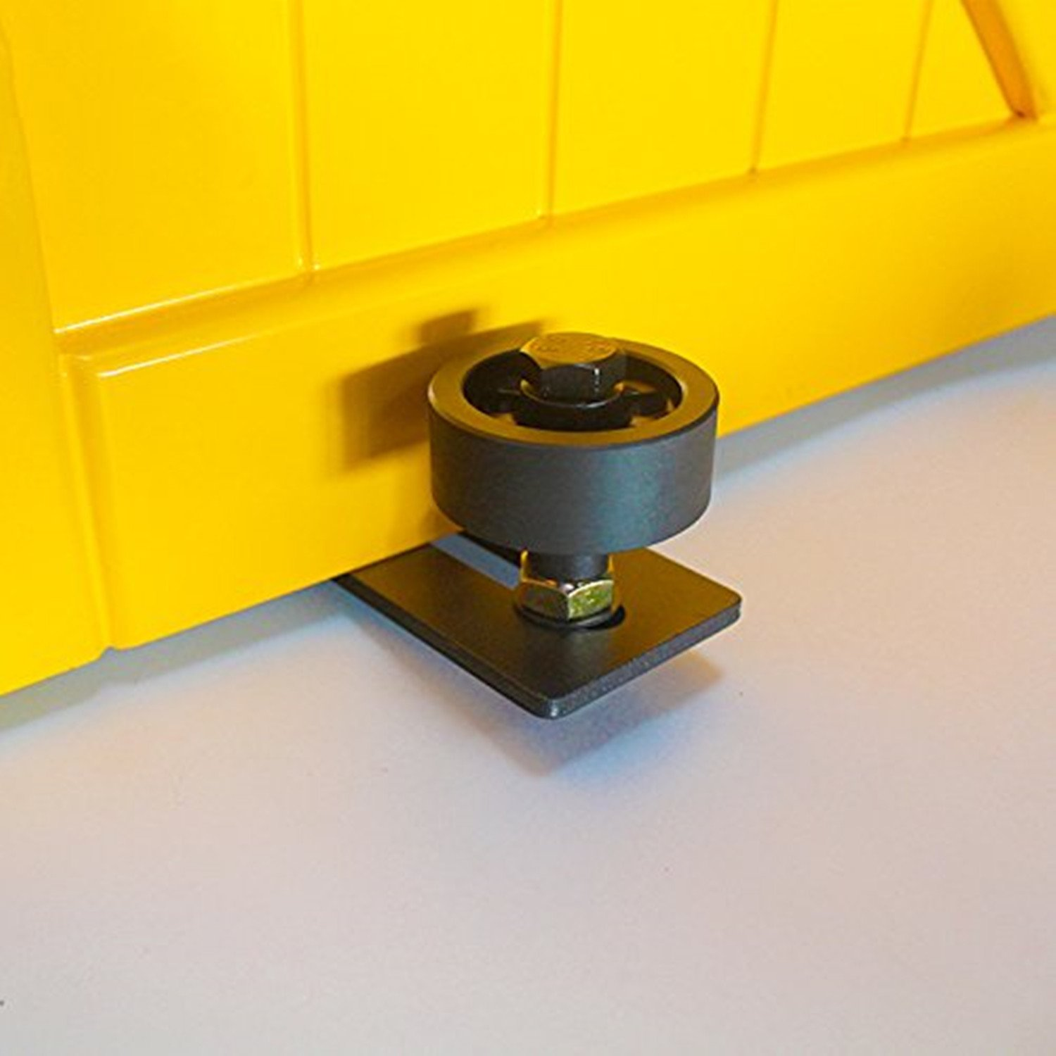 VANCLEEF Adjustable Single Wheel Floor Guide, Used for Sliding Barn Door, Wall Mounted, Made of Black Carbon Steel, Ensures Quiet and Smooth Sliding. by Vancleef Hardware (Image #3)