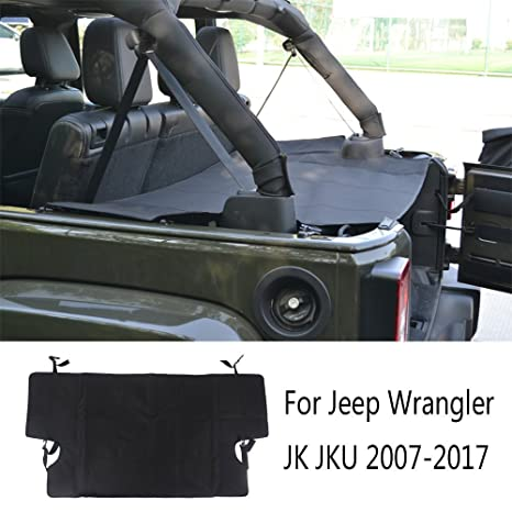 Amazon Com Joytutus Fits Jeep Wrangler Cargo Trunk Cover For Jk Jku