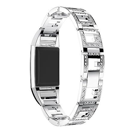 Amazon.com: Hollowed Out Bandas de metal para Fitbit Charge ...