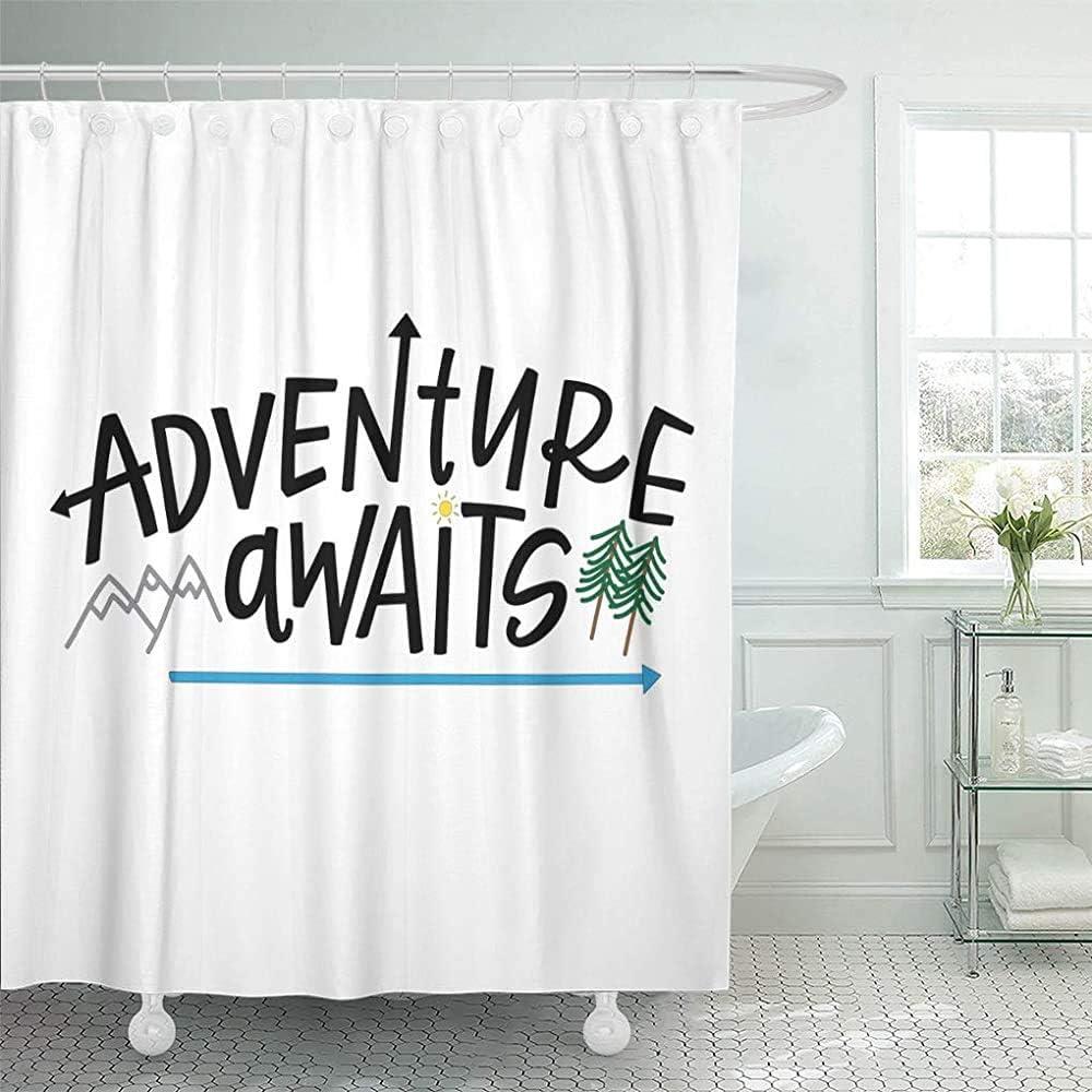 Cortina Baño Arrows Adventure Aguarda Frase con Letras A Mano ...