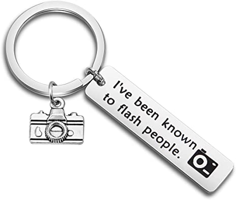 I've Been Known to Flash People Keychain