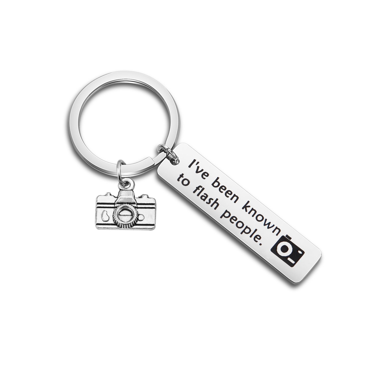 WUSUANED Photographer Keychain I've Been Known To Flash People Gift For Photographer (camera keychain)