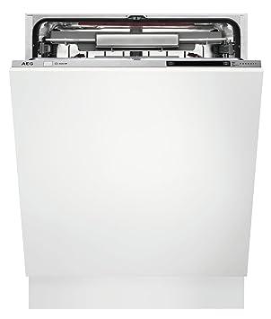 AEG FSK93800P Totalmente integrado 13cubiertos A+++ lavavajilla - Lavavajillas (Totalmente integrado, Blanco, Tamaño completo (60 cm), Plata, Botones, ...