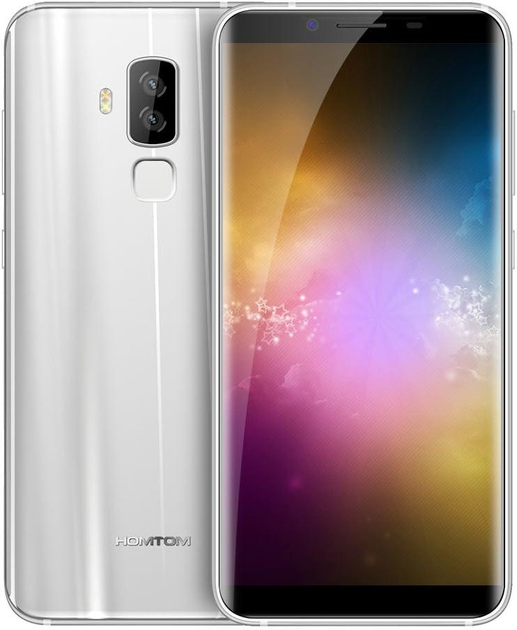 HOMTOM S8 4G Smartphone 5.7 pulgadas Android 7.0 MTK6750T Octa Core 1.5GHz 4GB RAM 64GB ROM 16.0MP + 5.0MP Cámaras traseras duales Smart Gesture Fingerprint Touch Sensor-Plata: Amazon.es: Electrónica