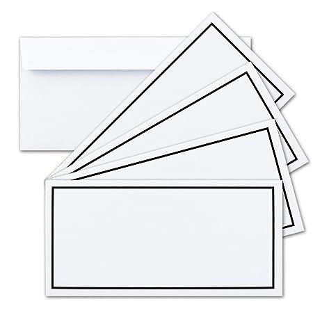 100x Trauer Brief Umschläge Din Lang Mit Schwarzem Rahmen I 110 X