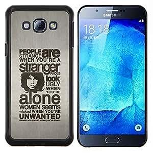 EJOOY---Cubierta de la caja de protección para la piel dura ** Samsung Galaxy A8 A8000 ** --GENTE TIPOGRAFÍA SON EXTRAÑO