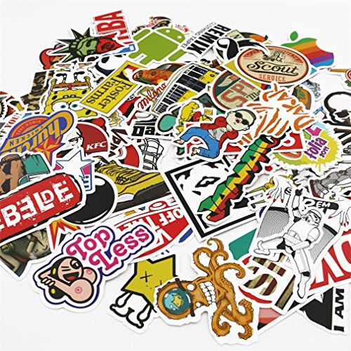 UTSAUTO Pack of 100 pcs Personalize Laptop Skin Decals and S