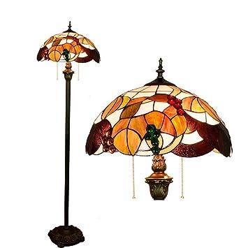 Lámparas de pie estilo Tiffany Luces de piso de sala de ...