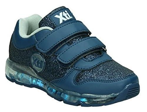 zapatillas de luces led para niña con cierre de velcro: Amazon.es: Zapatos y complementos