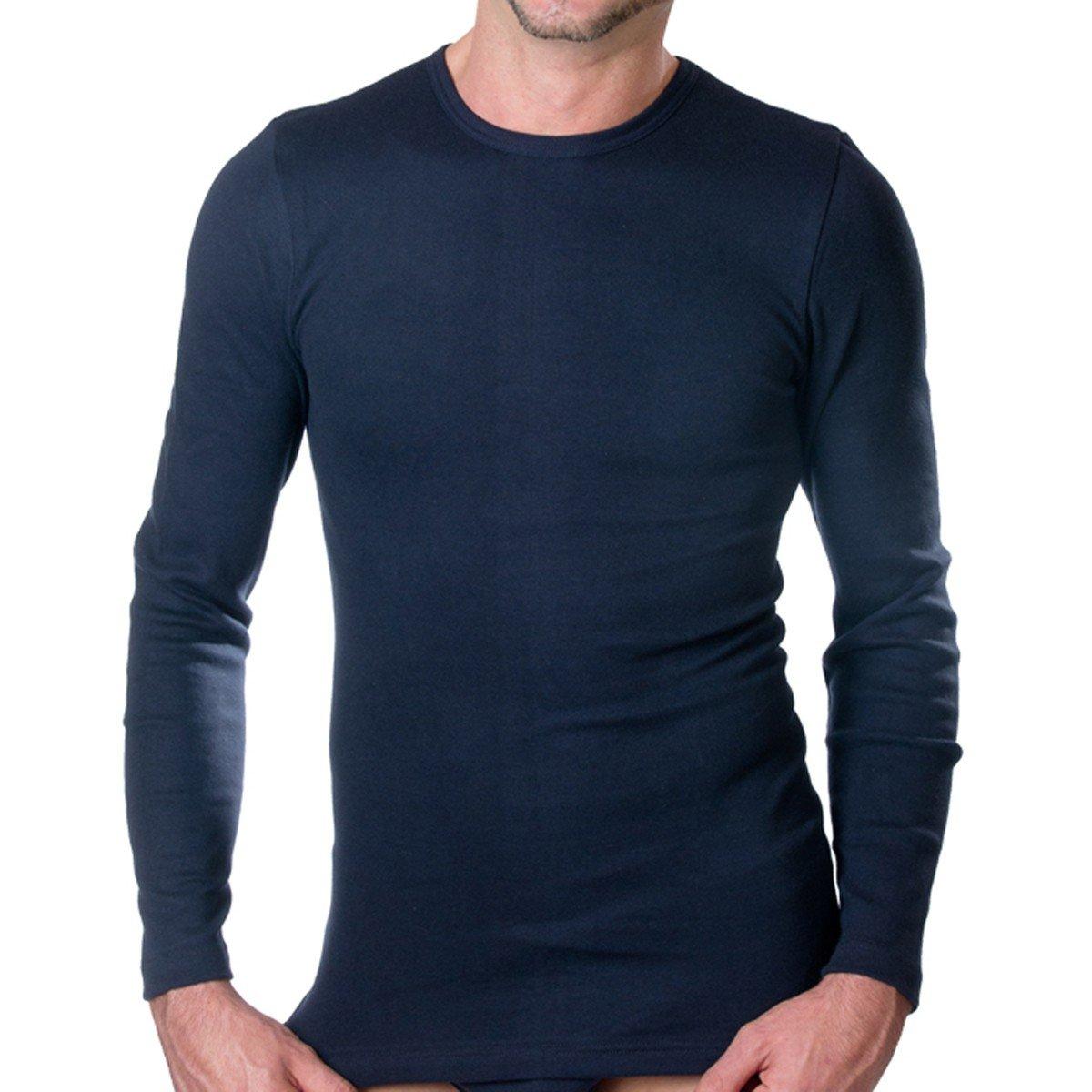 HERMKO 3640 Herren langarm Shirt aus 100% Baumwolle, long-sleeved underwear for men Männer Unterhemd mit langen Armen