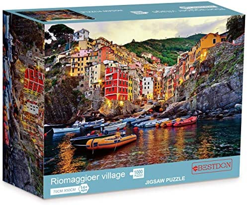 Bestdon 1000 Piece Jigsaw Puzzles for Adults - Riomaggiore Village