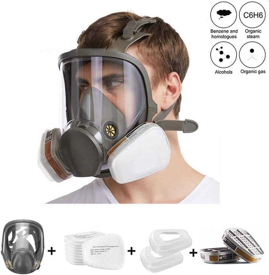 Máscara De Gas Cara Completa Silicona Filtro Autocebante Máscara Antigás Cubierta De Cara Completa Equipo De Protección Protección De Ojos