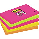 Post it Notes 76 x 127mm Super Sticky Notes, Cape Town Colour Collection, 5 pads (90 sheets per pad)